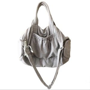 Gap Body Fit Duffel Bag Cotton Crossbody Gray